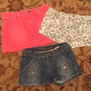 American Eagle jean Skirt Aeropostale shorts lot